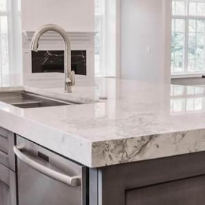 Kitchen Quartz Worktop Jazz White